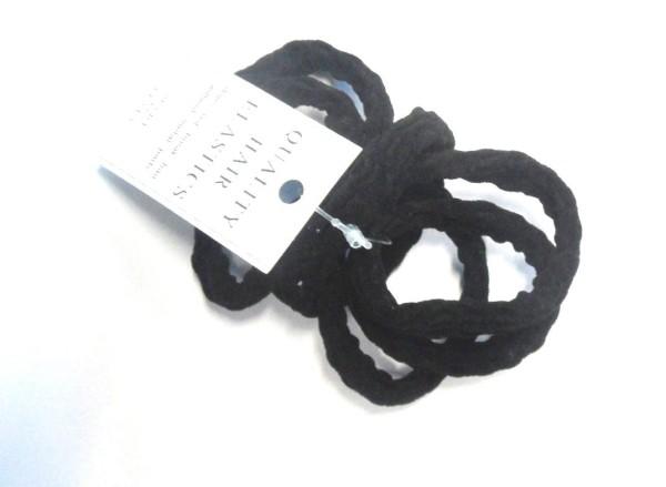 Zopfgummi - schwarz-strukturiert