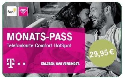 HotSpot Pass Telekom - Monatspass