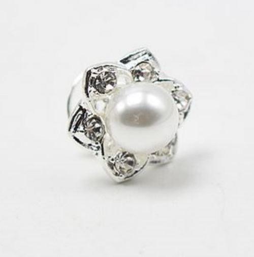 Curlie - Perle mit Strassrosette
