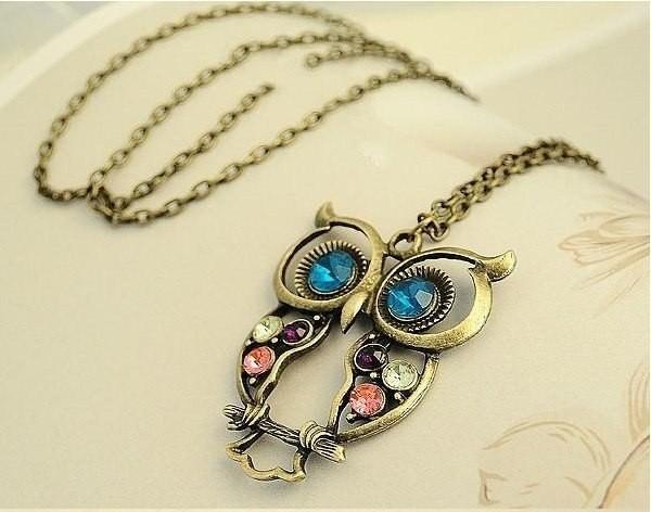 Halskette - Vintage Eule (Owl)