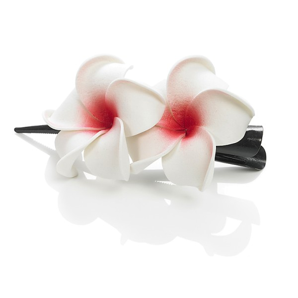 Dolly Martin - Frangipani Classic 2 Blüten Haarclip