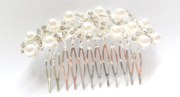 Haarkamm - Perlendekor