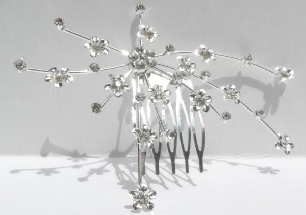 Haarkamm - Blütenranke